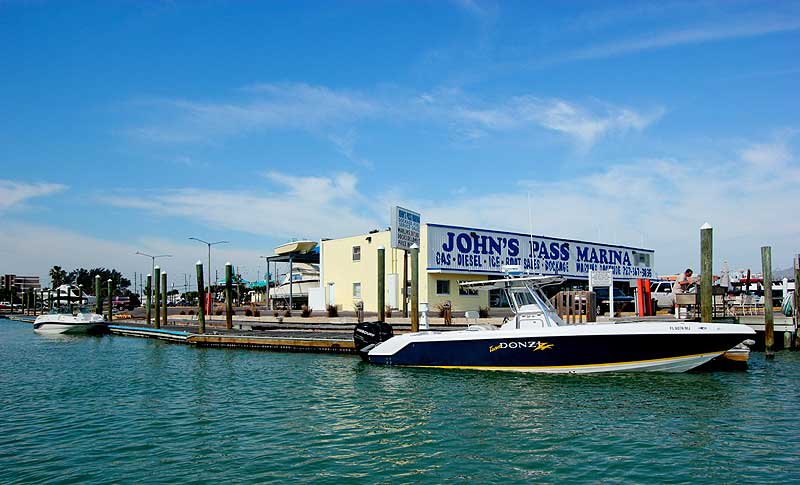 Johns pass marina treasure island fl for Fishing treasure island florida